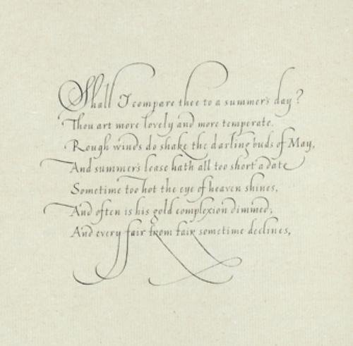 21A: Calligraphic Ms.- Folsom(Rose)Time's Best Jewel
