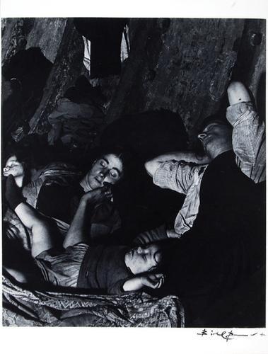 23C: Bill Brandt (b.1904-1983) family asleep in the und