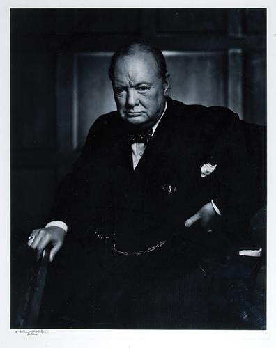 24C: Karsh. Portrait of Churchill