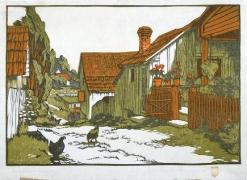 279C: Gustave Baumann (1881-1971) martha's alley