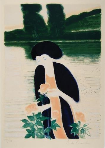 290C: Andre Brasilier (b.1919) les roses se l'etang