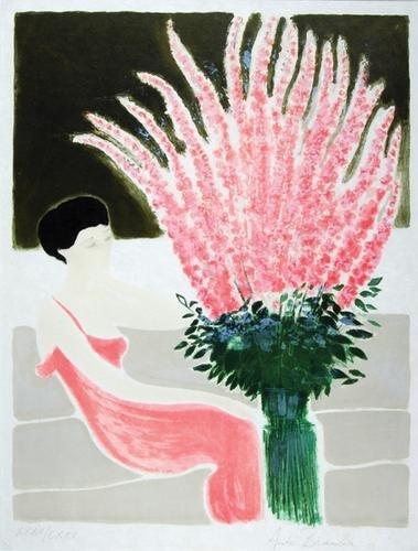 291C: Andre Brasilier (b.1919) les roses se l'etang