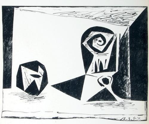 371C: Pablo Picasso tete femme de face