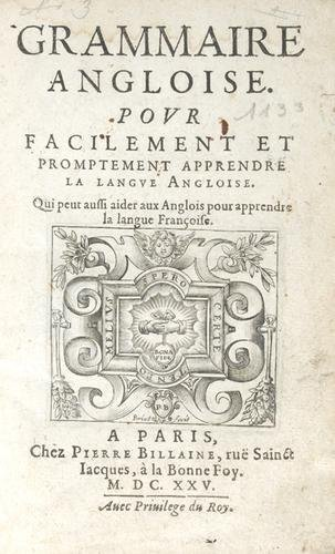 553D: Grammaire Angloise 1625