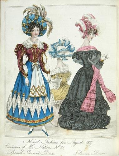 284: World of Fashion,5v in3,208 h-col.pls,1826-36