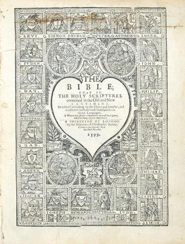 3: Bible, English. 1599