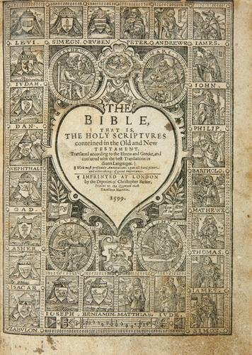 4: Bible, English 1599
