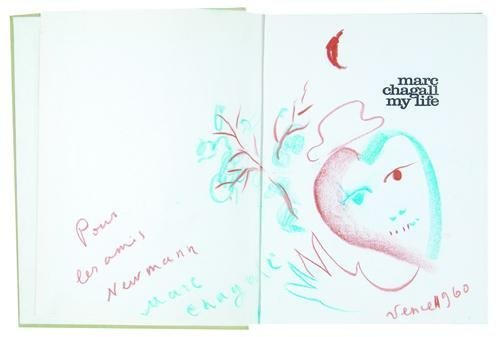 1: Marc Chagall, self-portrait a heart & flowers