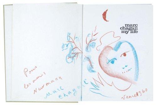 2: Marc Chagall, self-portrait a heart & flowers