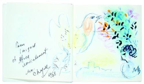 14: Marc Chagall, self-portrait, bird & bouquet