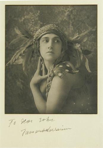 152: portrait of Tamara Karsavina