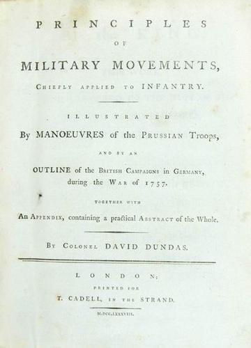 16: Dundas Principles Military Movements 1788 1st