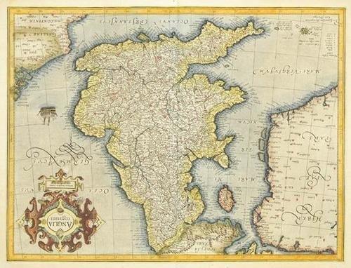 444: Mercator (Gerard) Anglia Regnum