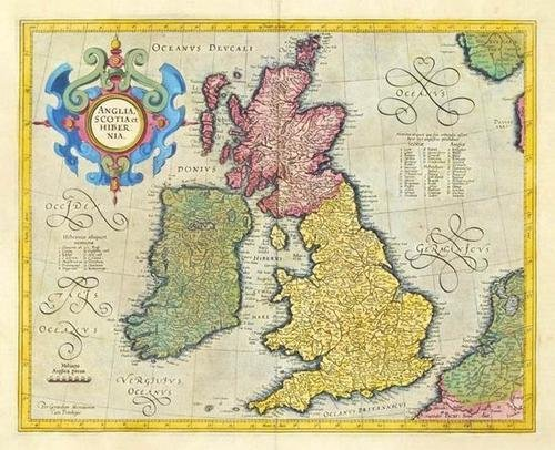 445: Mercator (Gerard) Anglia, Scotia et Hibernia