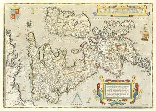 446: Ortelius (A.) Angliae, Scotiae, et Hiberniae