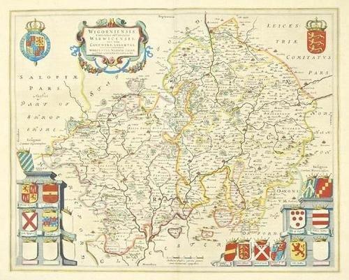 448: Blaeu (J & W) Cornubia sive Cornwallia