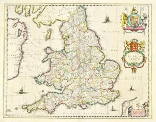 452: Blaeu (Johan & Willem) Anglia Regnum