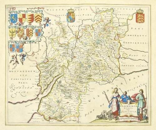 453: Blaeu (J & W) 4 county maps