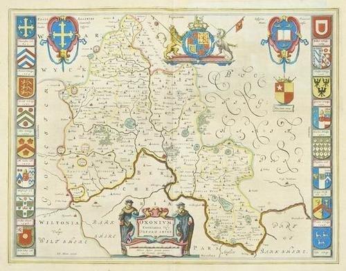 454: Blaeu (J & W) Oxfordshire, Beds and Bucks