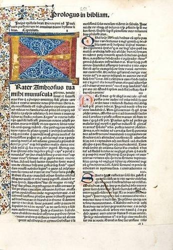 1: Bible, Latin. Biblia