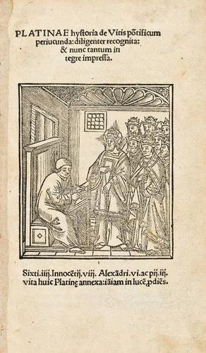 8: Platina. Hystoria de Vitis pontificum