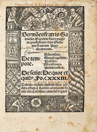 9: Bareletta (Gabriello) Sermonestratris...