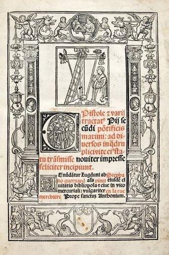 10: Pope Pius II. Epistole et Varii Tractat.