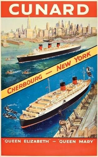 3: ANONYMOUS Cunard, Cherbourg - New York