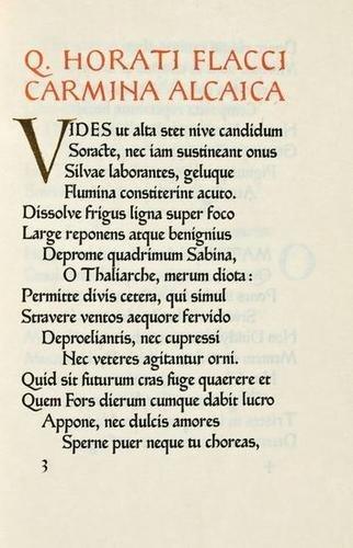 15: Horace.Carmina Alcaica/Sapphica,Ashendene