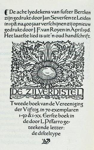 24: Een Boecxken.Susten Bertken,Zilverdistel,1918