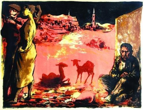 9: Michael Ayrton (1921-1975) landscape with three