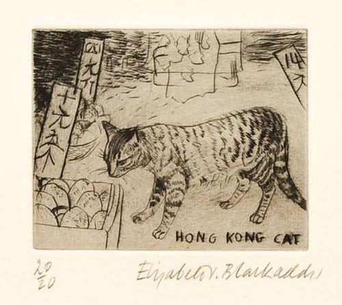 17: Elizabeth Blackadder (b.1931) hong kong cat