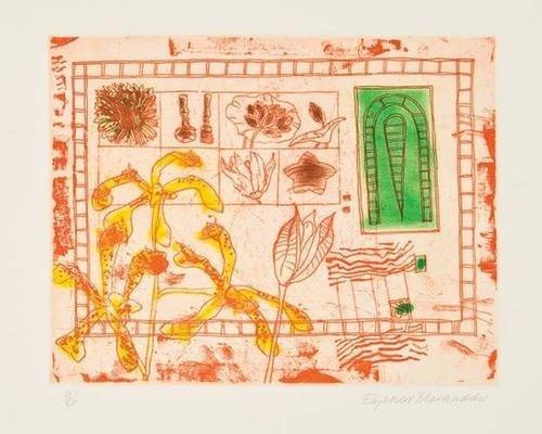 19: Elizabeth Blackadder (b.1931) red still life