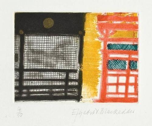 20: Elizabeth Blackadder (b.1931) konchi-Inn, kyoto