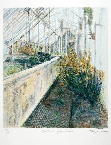 22: Olwyn Bowey (b.1936) victorian greenhouse