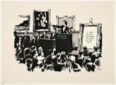 439: Banksy (b.1975) morons (white)