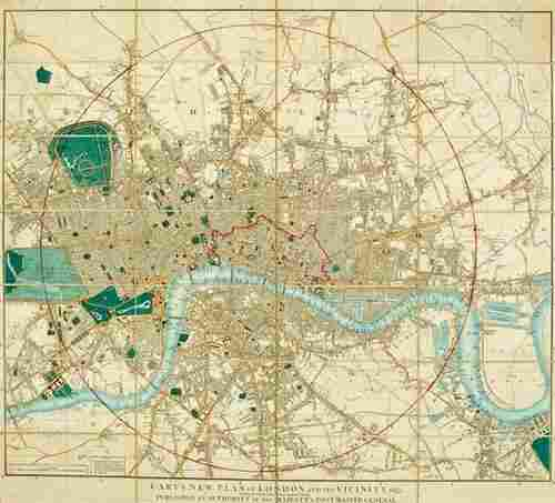 303: Cary (J.) New Plan of London and its Vicinity