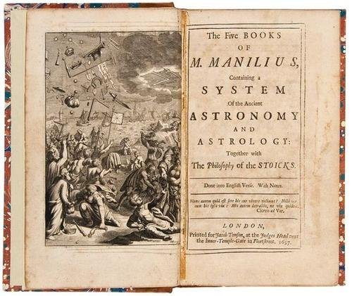 406: Manilius Astronomy and Astrology1697