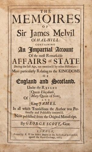 10: Melville (Sir James) Memoires 1683