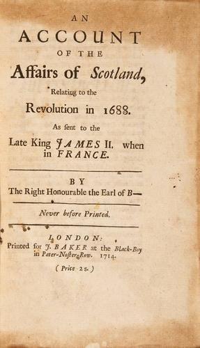 14: Lindsay Affairs of Scotland 1688, 1714