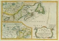 315 Robert de Vaugondy A New Map of Canada