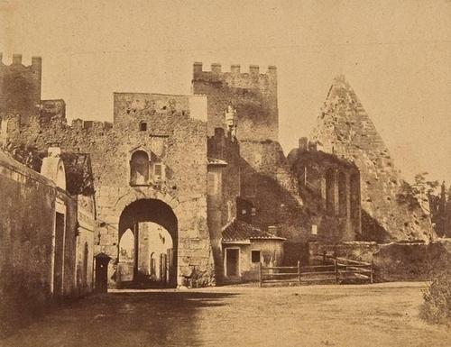18: Giacomo Caneva (1813-1865) Two views of the Pyrami