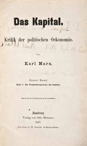606: Marx (Karl) Das Kapital.