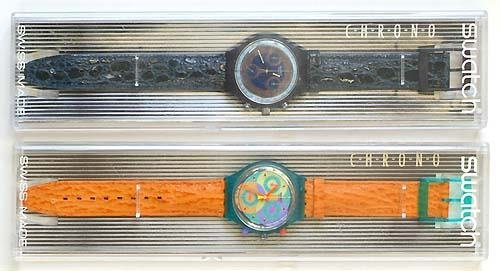 3001: TWO SWATCH CHRONO: SCN 'SILVER STAR' AND SCL