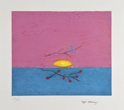 1: Craigie Aitchison (1926-2009) Still Life with Bird