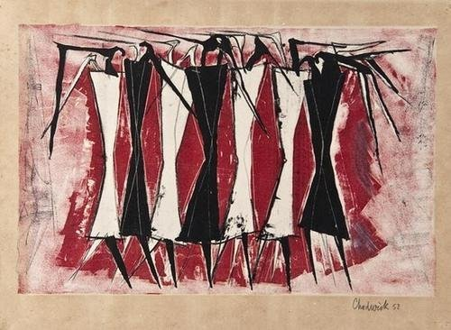 21: Lynn Chadwick (1914-2003) Group of Standing Figure