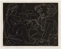 175: Pablo Picasso (1881-1973) Le peintre et son modele