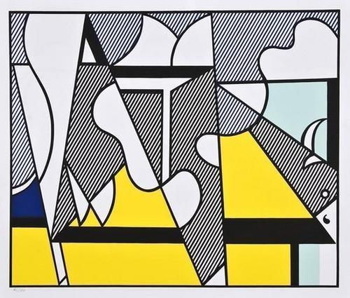 328: Roy Lichtenstein (1923-1997) Cow Triptych (cow goi