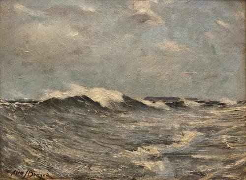 5:  Alan J. Bowyer (20th century)  Seascape