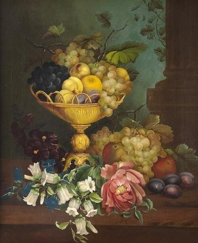 21: Edwin Steele (1837-1898) Still life with frui